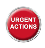 Urgent Action required
