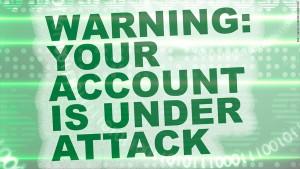 Account under cyber attack