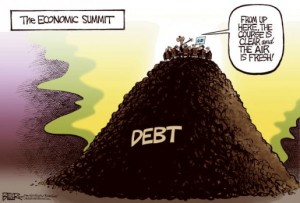Mountain of debt