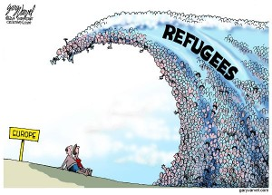 Because of ISIS, Europe is faced with a tsunami of refugees fleeing Syria.